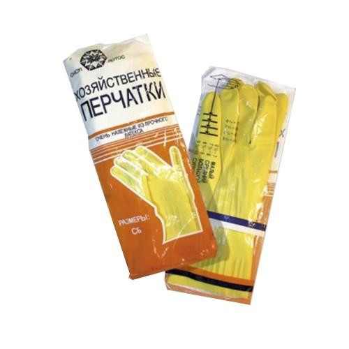 Латексные хозяйственные перчатки повышенной прочности