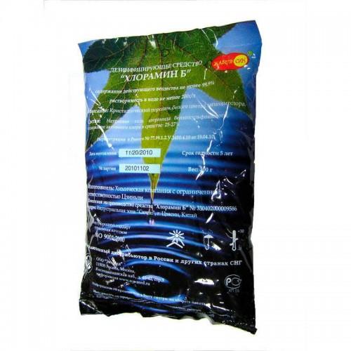 Хлорамин Б для дезинфекции поверхностей, порошок, 300 гр