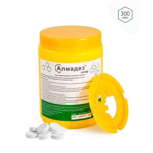 Дезинфицирующее средство Алмадез-хлор хлорные таблетки