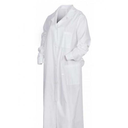 Халат белый с длинными рукавами