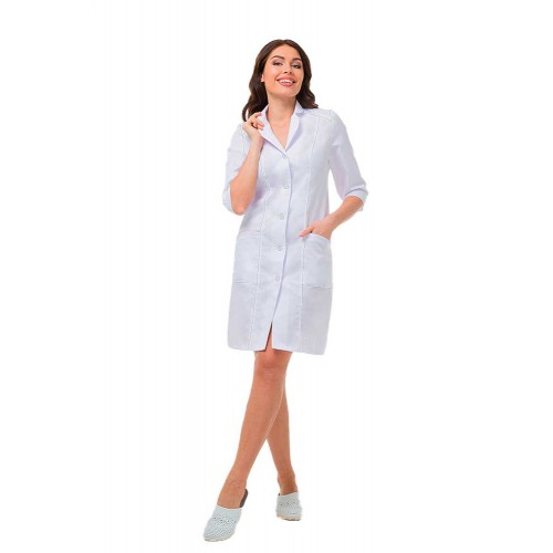 Халат медицинский белый женский