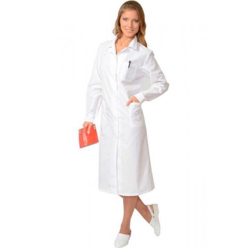 Медицинский халат женский с длинным рукавом