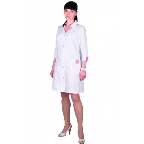 Женский медицинский халат на пуговицах