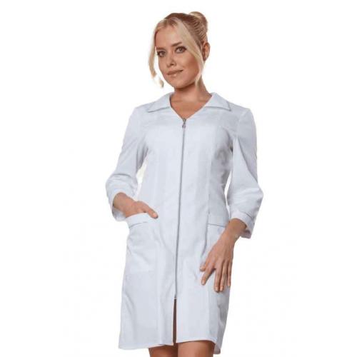 Белое платье халат