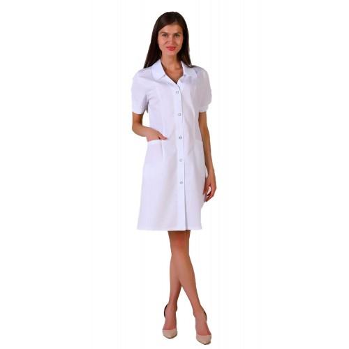 Медицинский халат женский с коротким рукавом