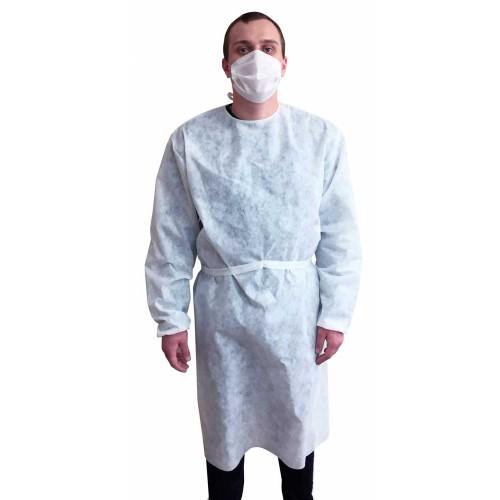 Одноразовый белый халат
