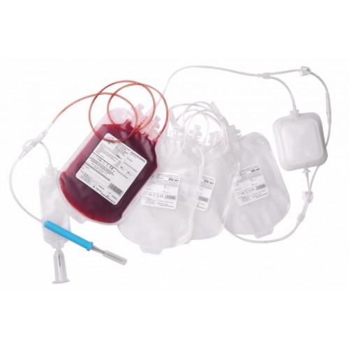 Контейнер для крови счетверенный