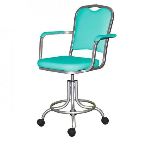 Кресло лабораторное КР09 на винтовой опоре с подлокотниками