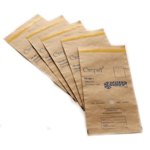 Самоклеящиеся пакеты из крафт-бумаги Стерит Винар
