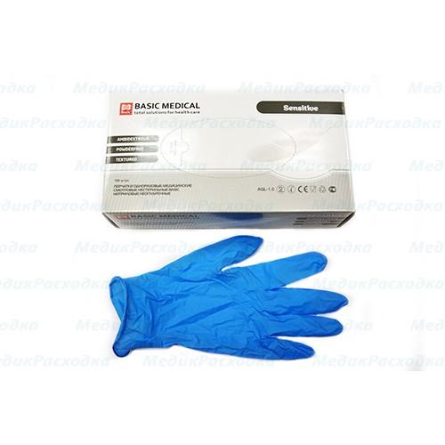 Латексные перчатки Basic Medical стерильные
