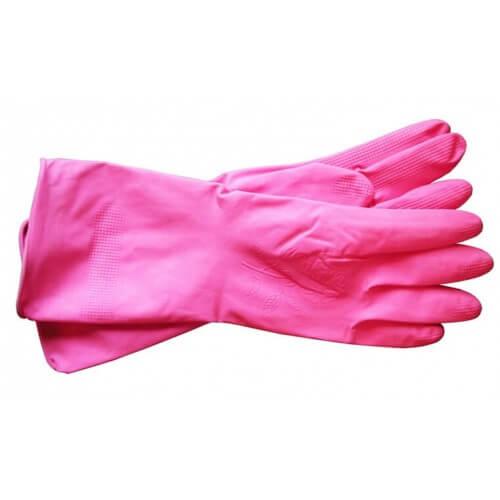Латексные розовые перчатки Xinda для санитарных работ