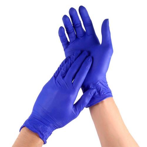 Нитриловые смотровые перчатки повышенной прочности