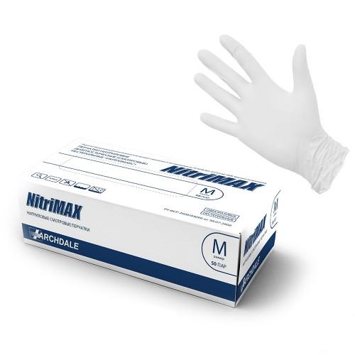 Перчатки нитриловые смотровые нестерильные NitriMAX