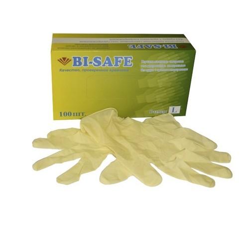 Латексные  неопудренные перчатки Bi Safe текстурированные
