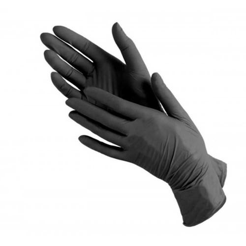 Виниловые чёрные перчатки
