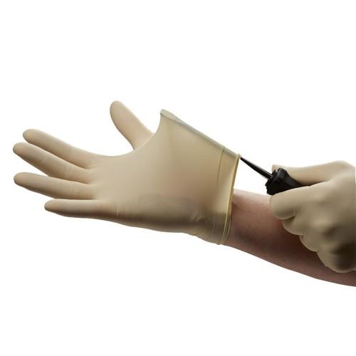 Стоматологические стерильные перчатки с полимерным покрытием