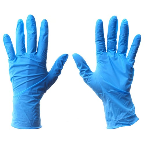 Нитриловые смотровые перчатки с удлинённой манжетой