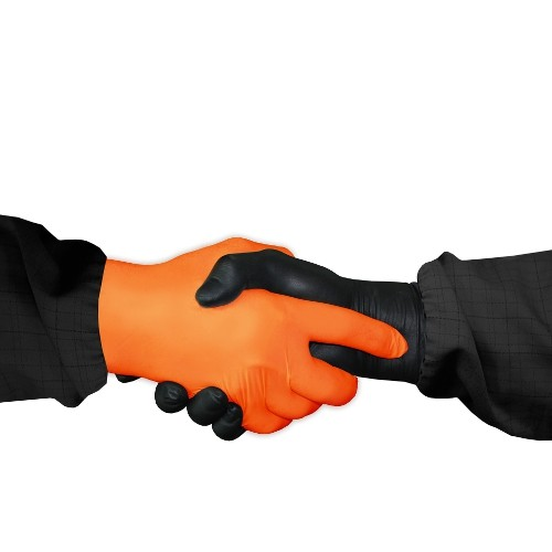 Нитриловые оранжевые перчатки