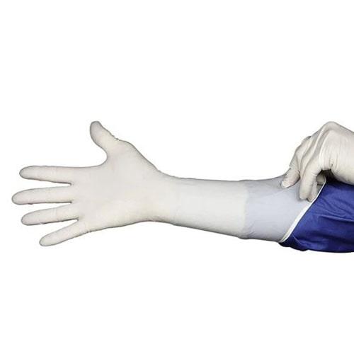 Нитриловые удлиненные перчатки