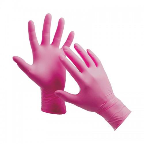Нитриловые смотровые перчатки с протеинами шелка