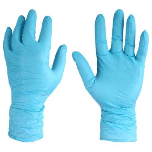 Нитриловые перчатки с удлиненной манжетой