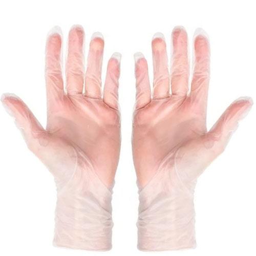 Виниловые перчатки одноразовые неопудренные