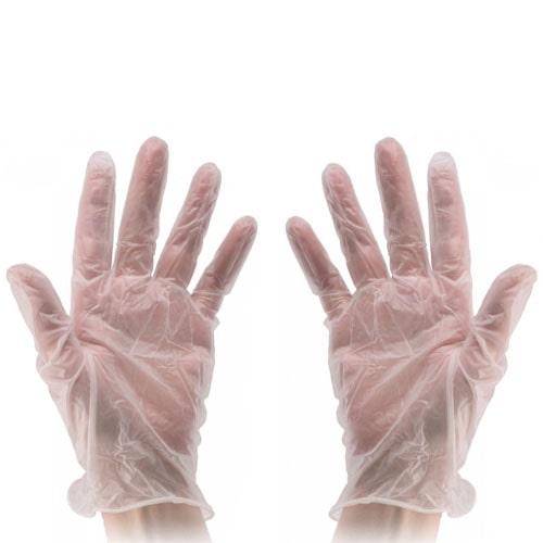 Виниловые перчатки опудренные