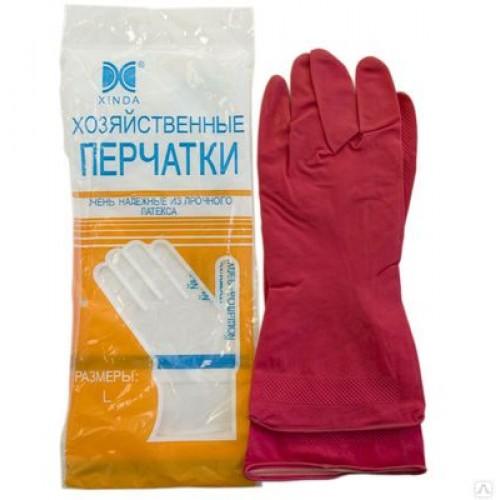 Латексные хозяйственные перчатки