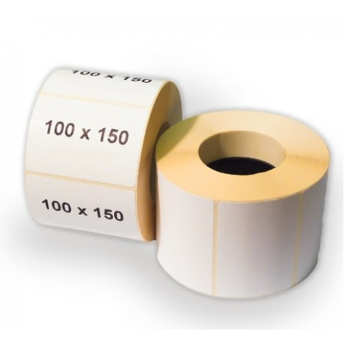 Широкие термоэтикетки 100х150 мм полуглянцевые