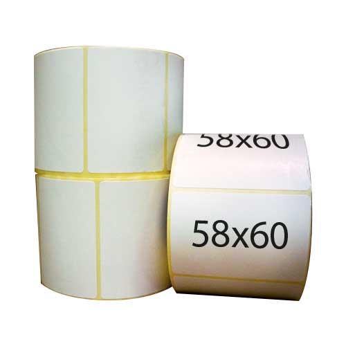 Самоклеящиеся этикетки 58х60 мм полипропиленовые