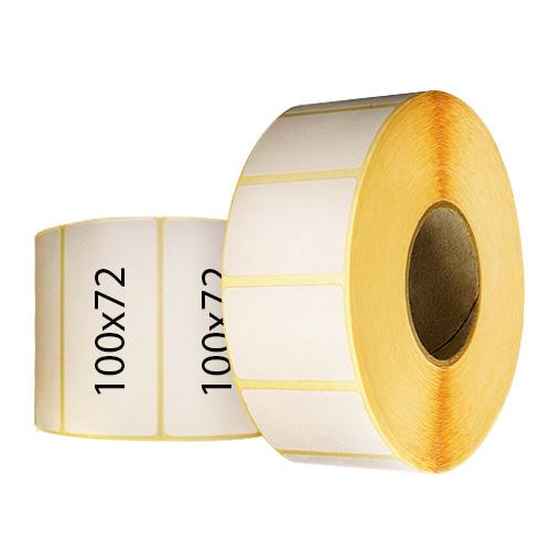 Термоэтикетки 100х72 мм в рулонах для пробирок