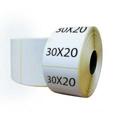 Самоклеящиеся этикетки для пробирок 30х20 мм термотрансферные полуглянцевые