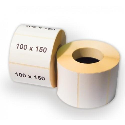 Полипропиленовые этикетки 100х150 мм в рулоне