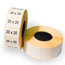 Полипропиленовые самоклеящиеся этикетки 30х20 мм