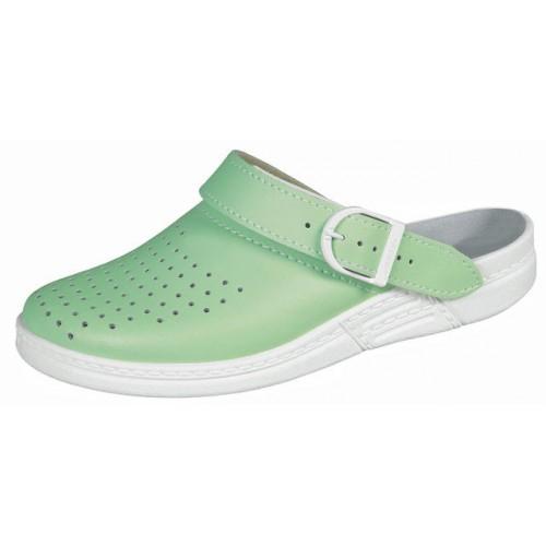 Тапочки сабо зелёные