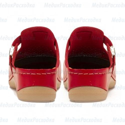 Тапочки сабо красные