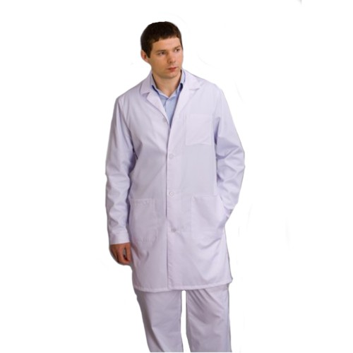 Мужской халат белый