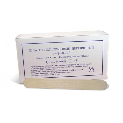 Шпатель деревянный медицинский стерильный