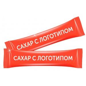 Сахар в стиках с индивидуальным логотипом