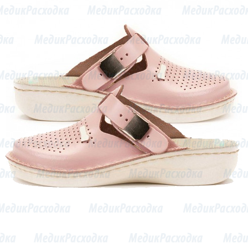 Тапочки сабо розовые