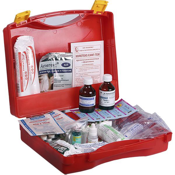 Аптечка для оказания медицинской помощи в офисе или автомобильные.