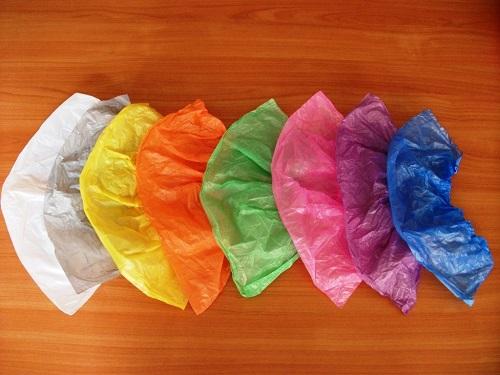 детские цветные бахилы