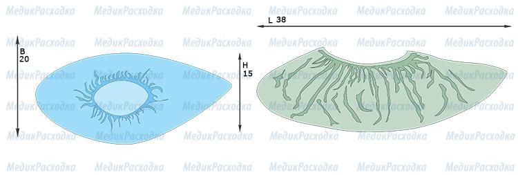 Бахилы стерильные низкие