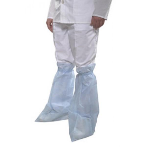 бахилы хирургические высокие показаны надетые на костюм хирурга.