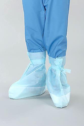 бахилы хирургические на завязках синего цвета
