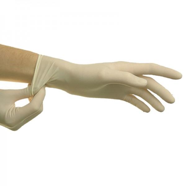 Стоматологические перчатки нестерильные белые надевание на руку