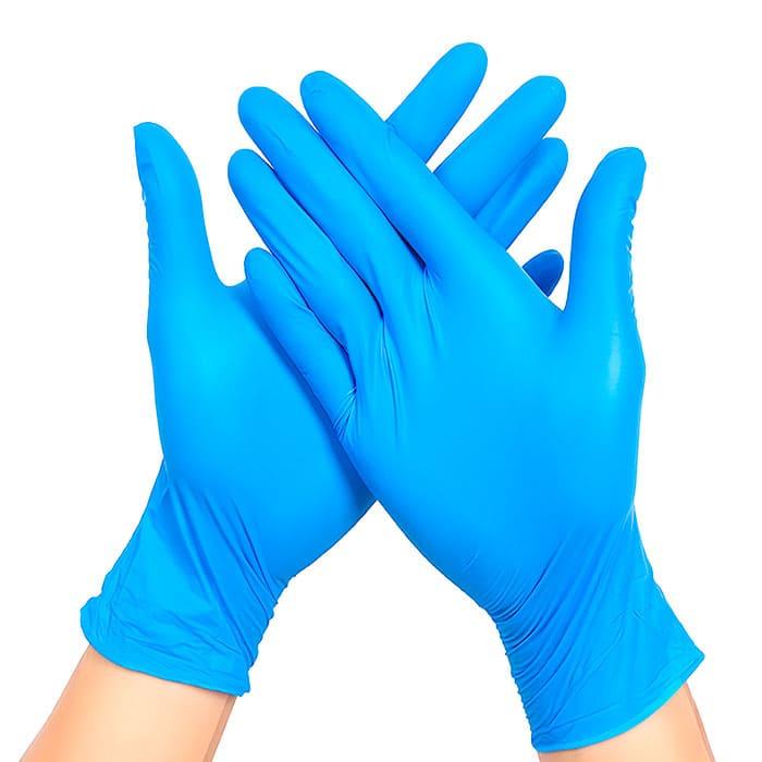 перчатки хирургические латекс синего цвета