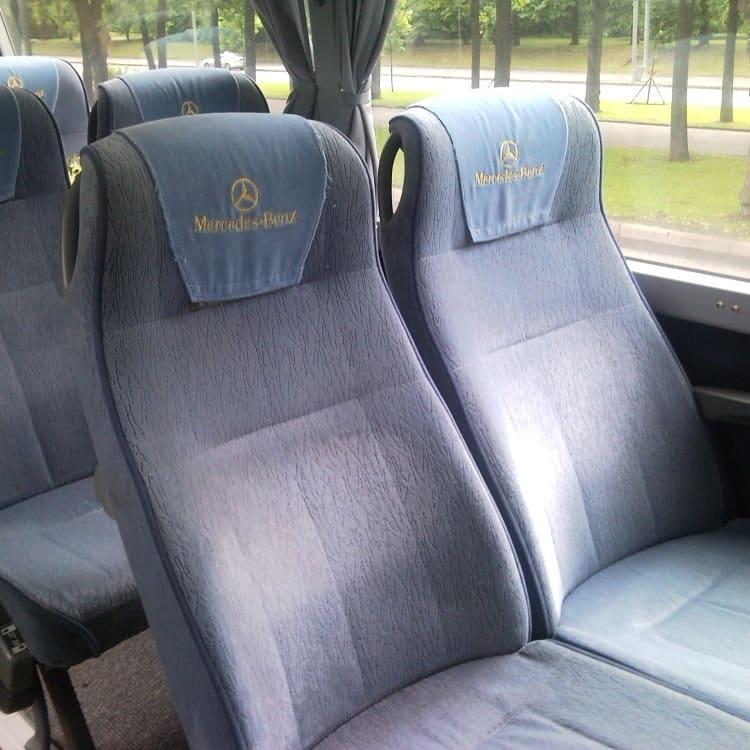 Подголовник для кресла автобуса