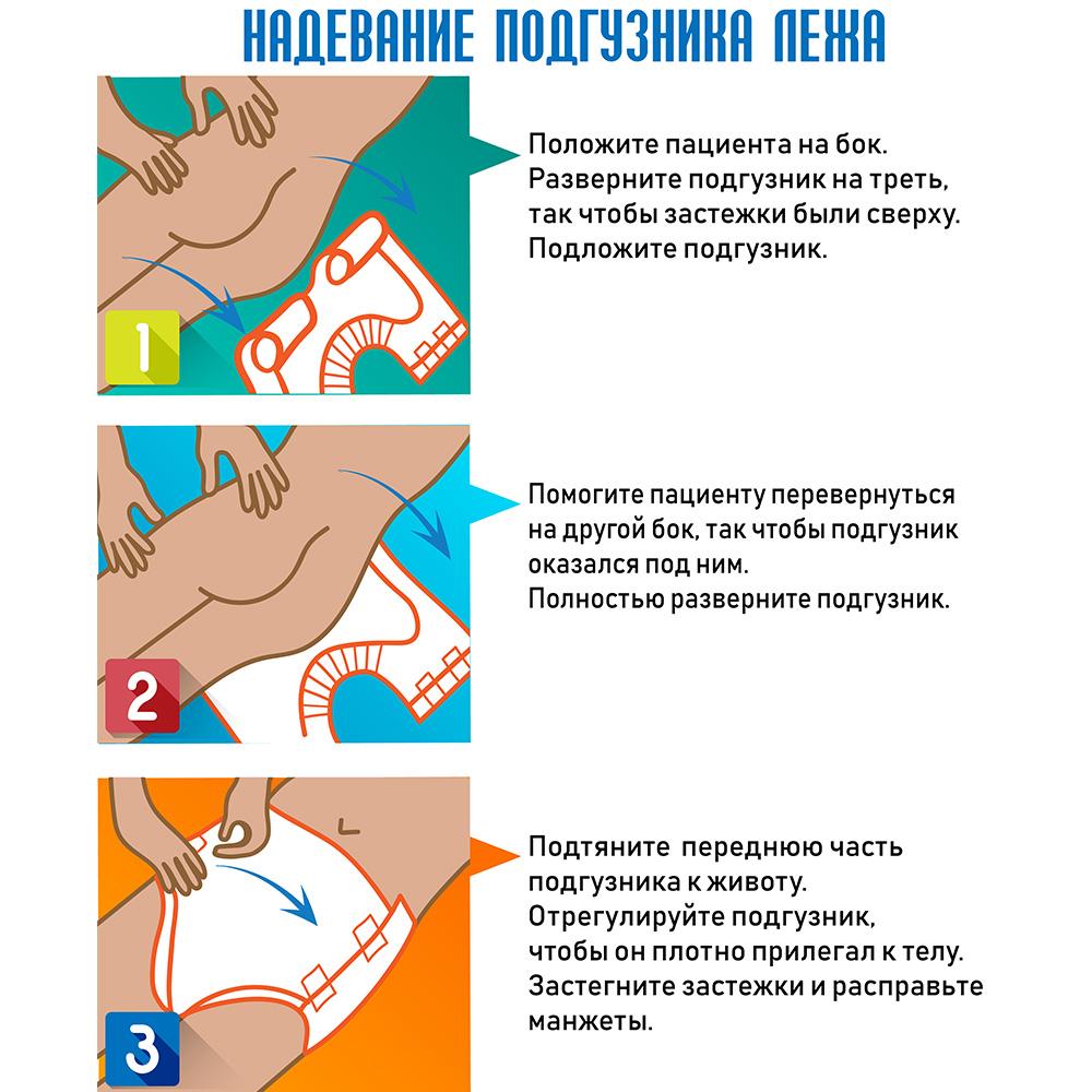 Как надевать подгузники для лежащих больных
