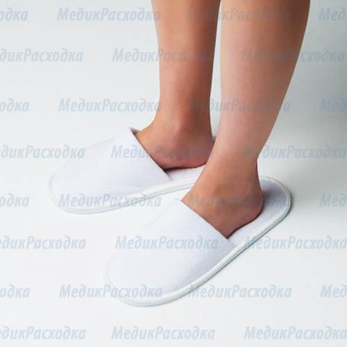 Тапочки махровые с закрытым мысом 2 мм